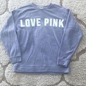 VS PINK Periwinkle Terrycloth Sweatshirt